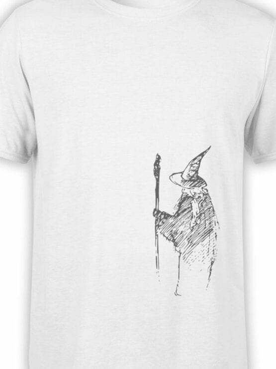 1472 The Lord of the Rings T Shirt Gandalf the Grey Front Color