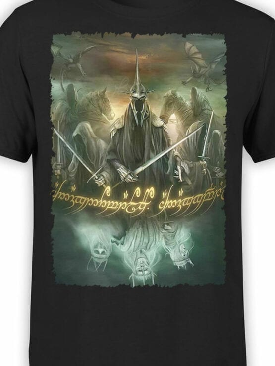1474 The Lord of the Rings T Shirt Mordor Front Color