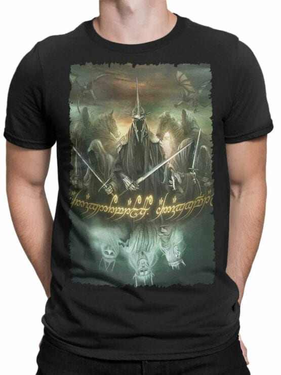 1474 The Lord of the Rings T Shirt Mordor Front Man