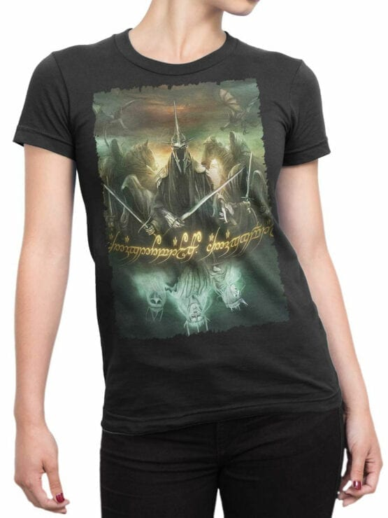 1474 The Lord of the Rings T Shirt Mordor Front Woman