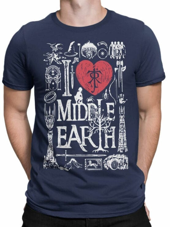 1478 The Lord of the Rings T Shirt Middle Earth Front Man
