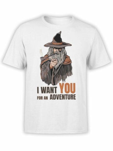 1487 The Lord of the Rings T Shirt Adventure Front