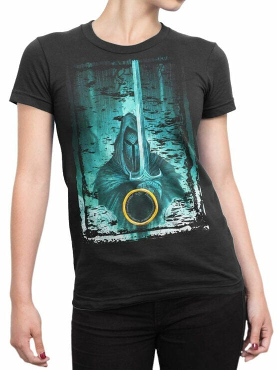 1489 The Lord of the Rings T Shirt Night Front Woman