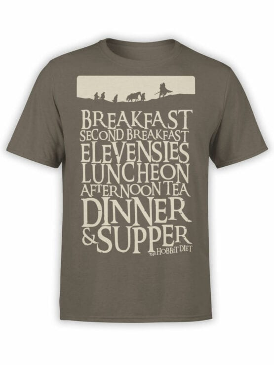 1492 The Lord of the Rings T Shirt Breakfast Front