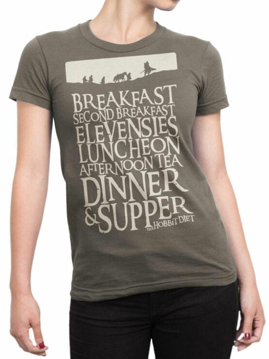1492 The Lord of the Rings T Shirt Breakfast Front Woman