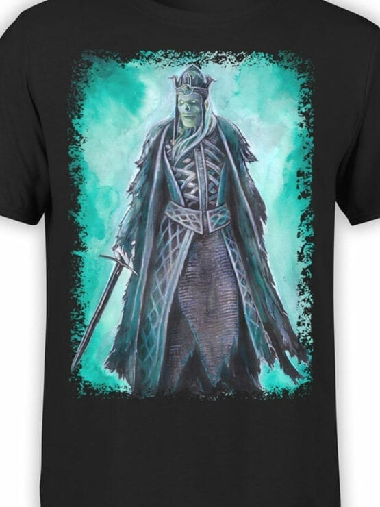 1497 The Lord of the Rings T Shirt King of the Dead Front Color
