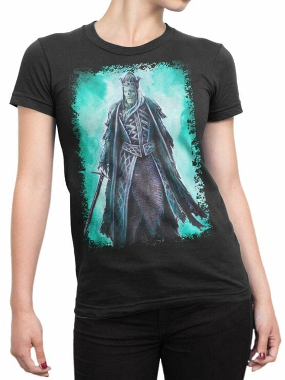 1497 The Lord of the Rings T Shirt King of the Dead Front Woman
