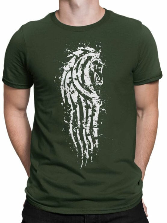 1504 The Lord of the Rings T Shirt Rohan Front Man