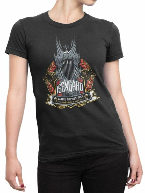 1505 The Lord of the Rings T Shirt Isengard Front Woman