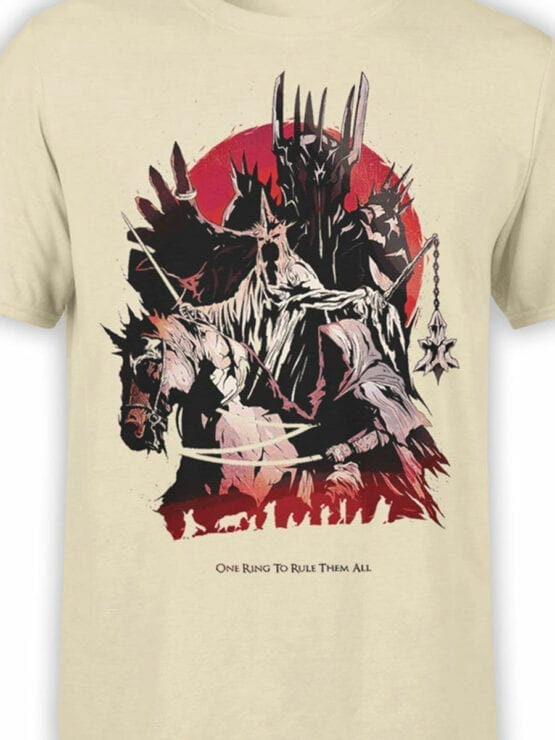 1506 The Lord of the Rings T Shirt Rule Front Color
