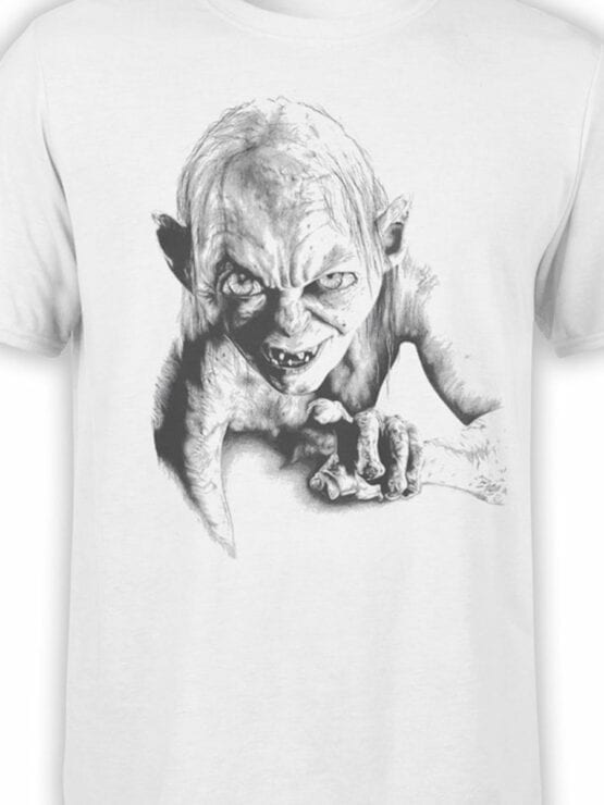 1509 The Lord of the Rings T Shirt Gollum Front Color