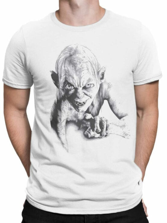 1509 The Lord of the Rings T Shirt Gollum Front Man