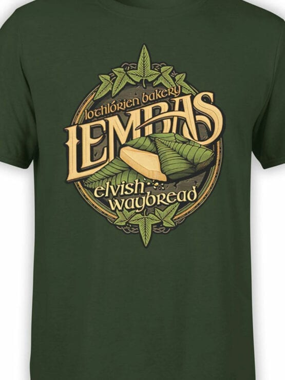 1510 The Lord of the Rings T Shirt Lembas Front Color