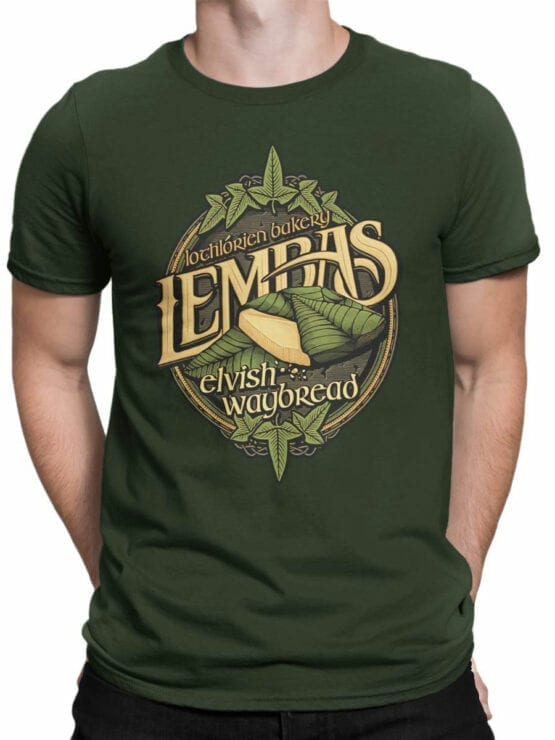 1510 The Lord of the Rings T Shirt Lembas Front Man