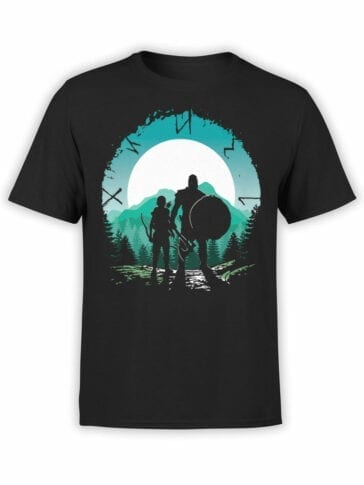 1511 God of War T Shirt Kratos and Son Front