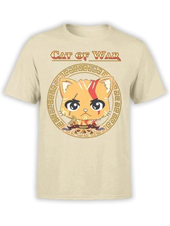 1515 God of War T Shirt Cat of War Front