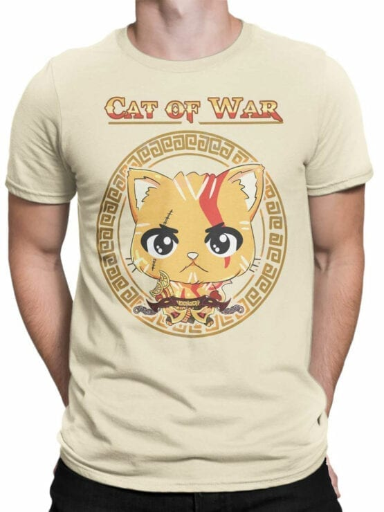 1515 God of War T Shirt Cat of War Front Man