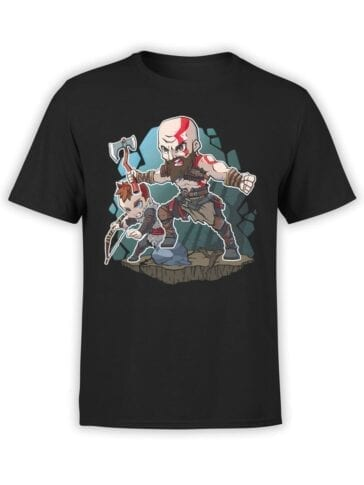 1520 God of War T Shirt Attack Front