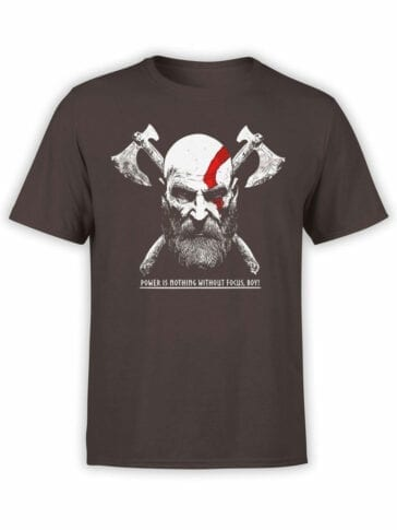 1525 God of War T Shirt Power is Nothing Front