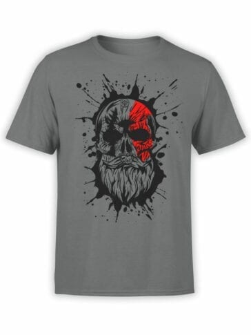 1527 God of War T Shirt Skull Front