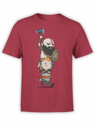 1533 God of War T Shirt Run Front