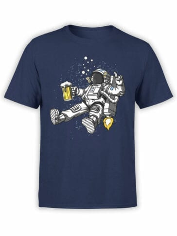 1551 NASA T Shirt Astro Beer Front