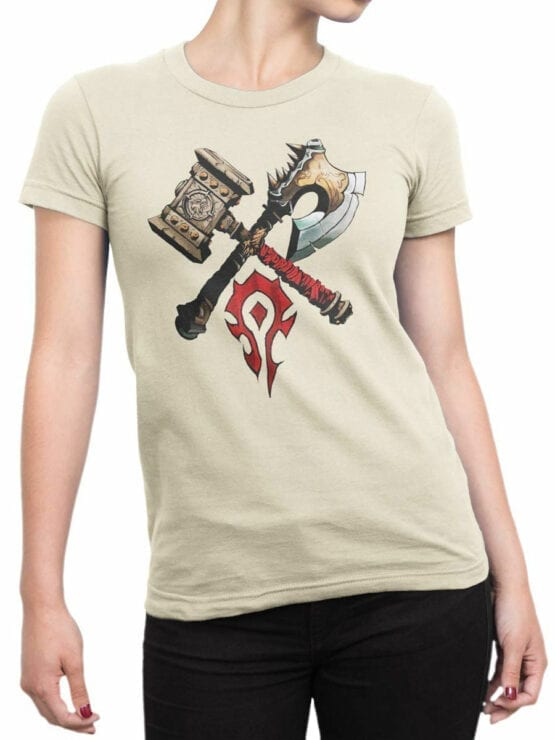 1568 World of Warcraft T Shirt Horde Front Woman
