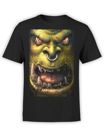 1571 World of Warcraft T Shirt Orc Front