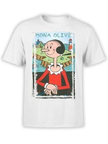 1601 Popeye T Shirt Mona Olive Front