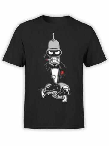 1618 Futurama T Shirt Bender Father Front