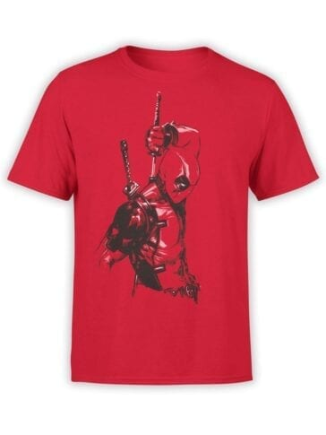 1661 Red One T Shirt Deadpool T Shirt Front