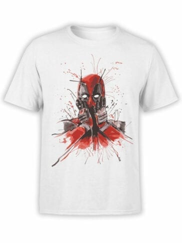 1668 Oops T Shirt Deadpool T Shirt Front