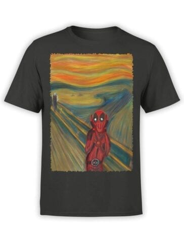 1671 The Scream T Shirt Deadpool T Shirt Front