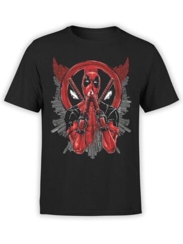 1675 Smell T Shirt Deadpool T Shirt Front