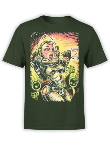 1701 Alien Attack T Shirt Front
