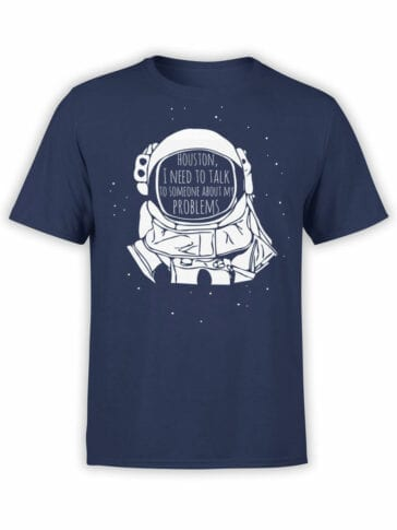 1708 Houston T Shirt NASA T Shirt Front