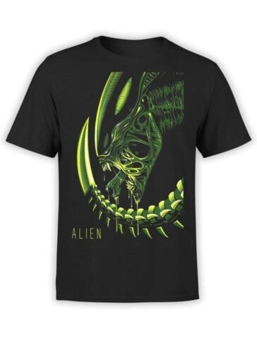 1739 Retro Alien T Shirt Front