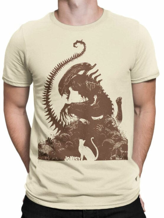 1749 Jonesy T Shirt Alien T Shirt Front Man