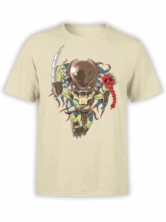 1758 Very Cute Predator T Shirt Funny Alien T Shirt Front