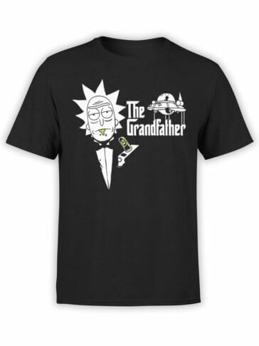 1765 The Grandfather Rick and Morty T Shirt Front