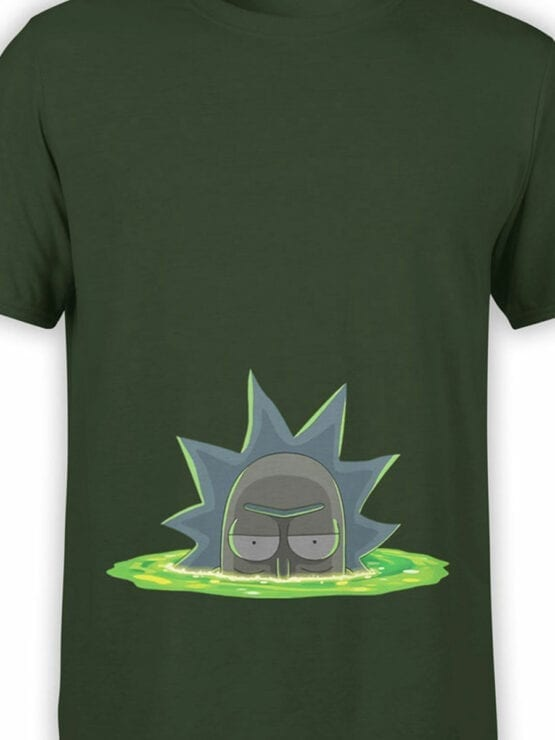 1768 Dimension Rick and Morty T Shirt Front Color