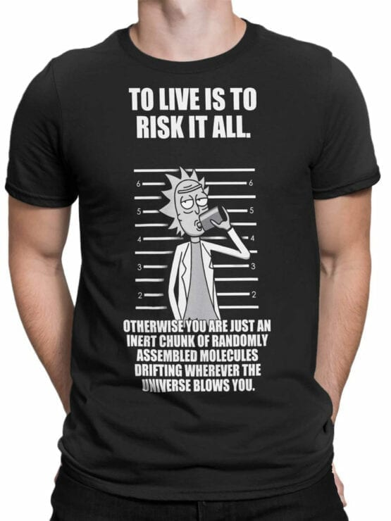 1768 Risk Rick and Morty T Shirt Front Man