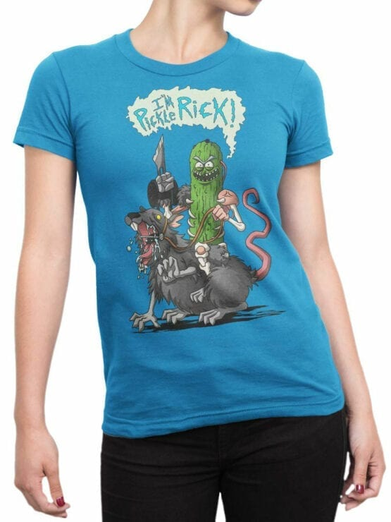 1775 Im Pickle Rick Rick and Morty T Shirt Front Woman