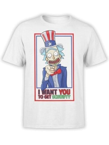 1778 I Want You Rick and Morty T Shirt Front