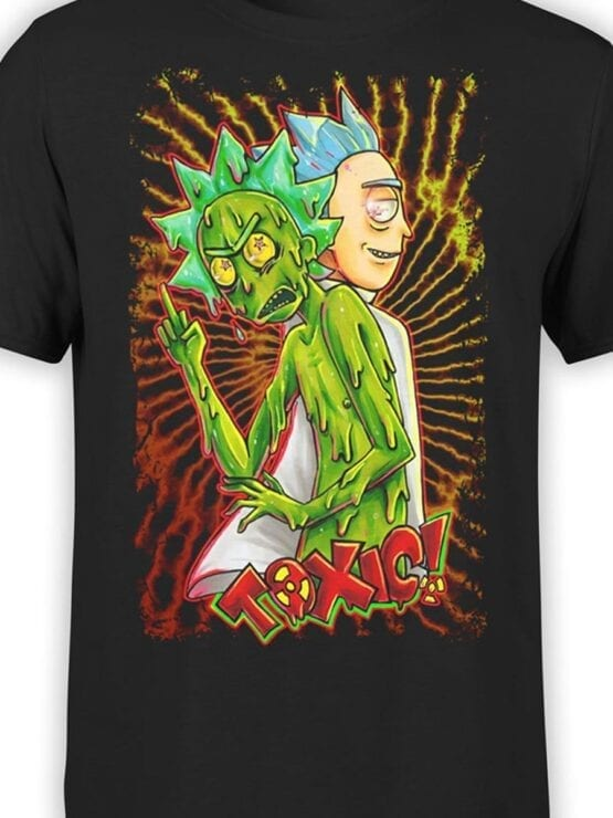 1779 Toxic Rick and Morty T Shirt Front Color