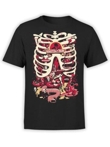 1780 Anatomy Park Rick and Morty T Shirt Front