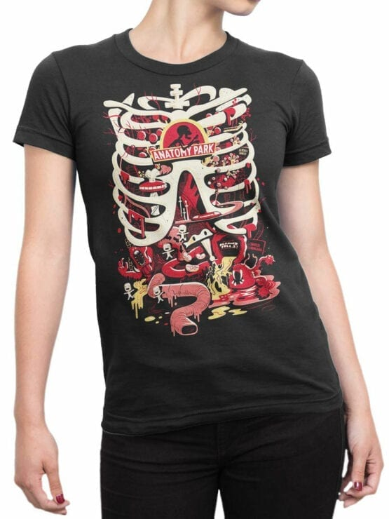 1780 Anatomy Park Rick and Morty T Shirt Front Woman