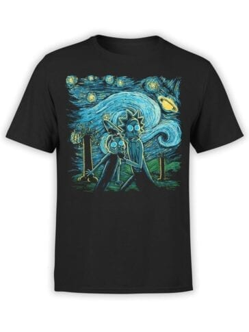 1783 Van Gogh Rick and Morty T Shirt Front