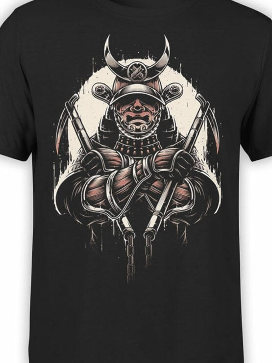 1787 Warrior Samurai T Shirt Front Color
