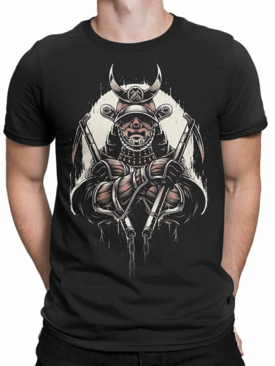 1787 Warrior Samurai T Shirt Front Man